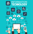 information technology web internet poster vector image vector image