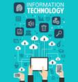 information technology web internet poster vector image vector image