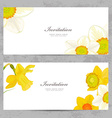 invitation cards with lovely daffodils for your vector image vector image