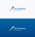 Jet arrow flame dynamic logo vector image