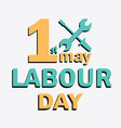 labour day logo concept with wrenches vector image vector image