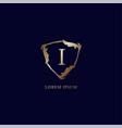 letter i alphabetic logo design template luxury