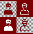 man with sleeping mask sign bordo and vector image vector image