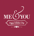 me you chalkboard red vector image