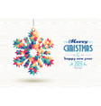 merry christmas happy new year 2019 triangle snow vector image vector image