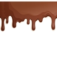 Milk chocolate drips background vector image vector image