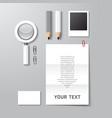 mockup business stationery set design vector image