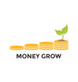 money grow graphic icon design template vector image