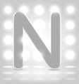 N over lighted background vector image vector image