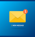 new incoming message concept on a blue background vector image
