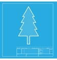 New year tree sign White section of icon on vector image vector image