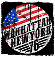 new york city america flag print and varsity vector image vector image