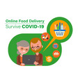 online food delivery during covid-19 virus vector image