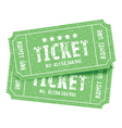 pair of tickets green vector image vector image