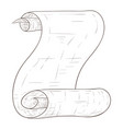 paper scroll hand drawn sketch vector image vector image