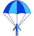 Parachuter vector image vector image