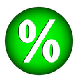 Percent button vector image