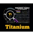 Periodic Table of the element Titanium vector image vector image