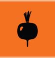 radishes icon vector image