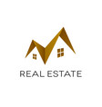 real estate logo design roof shape isolated vector image vector image