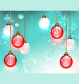 red light bulb vector image