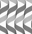 Ribbons making waves with dark and light pattern vector image vector image