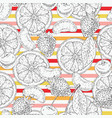seamless pattern with fruits and stripes vector image vector image