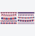 set american flag decoration clip art vector image
