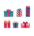set colorful gift box symbols vector image vector image