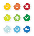 set of web icons colored stickers vector image vector image