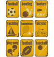 set sport separate signs vector image