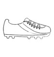 shoe soccer icon equipment play vector image