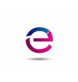 Sign of the letter E Branding Identity Corporate l vector image