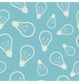 Simple light bulb seamless pattern vector image