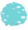 Sky Clouds Landscape vector image vector image