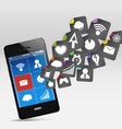Smartphone App icons vector image vector image