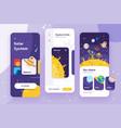 solar system mobile app ui vector image