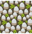 Stones and rocks on ground pattern vector image vector image