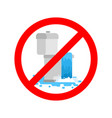 stop toilet is clogged it is forbidden to use vector image vector image