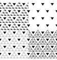 triangle seamless pattern set - collection vector image