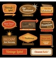 Vintage retro label signs
