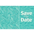 Wedding turquoise invitation template vector image
