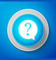 white question mark in circle icon isolated vector image vector image