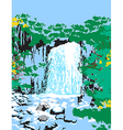 Wild Jungle Waterfalls vector image