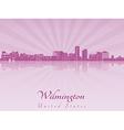 Wilmington skyline in purple radiant orchid vector image vector image