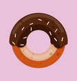 donut in sweet pink glaze vector image