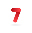 Number 7 logo icon design template elements vector image