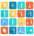 Road worker flat icon vector image