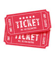 pair of tickets red vector image