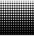 halftone pattern circles and dots vertical rows vector image